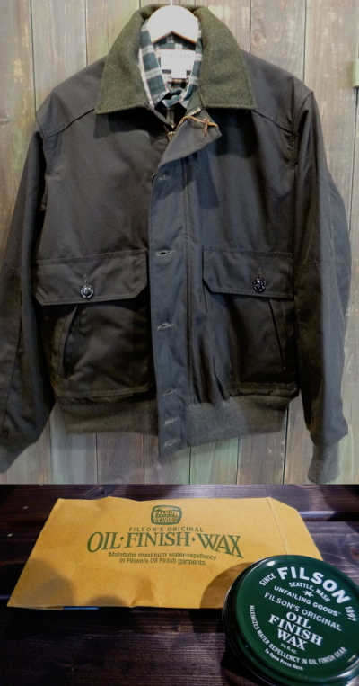 FILSON Ranger Oil Cloth Bomber