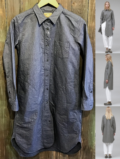 Nigel Cabourn WOMAN LONG BRITISH OFFICER'S SHIRT