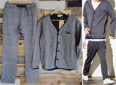 GRAMiCCi BONDING KNIT FLEECE CARDIGAN&NN-PANTS